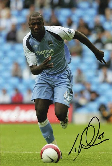 Ishmael Miller, Manchester City, signed 12x8 inch photo.